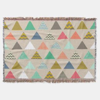 geo triangles throw blanket