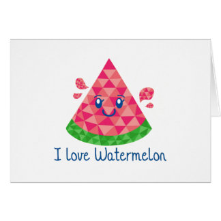 Geo Watermelon Greeting Card