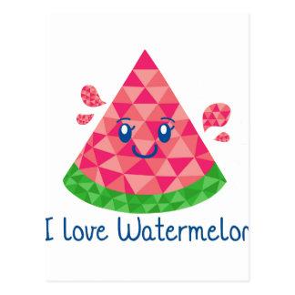 Geo Watermelon Postcard