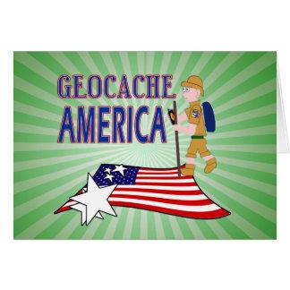 GEOCACHE AMERICA DUDE GUY MALE GREETING CARD