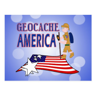 GEOCACHE AMERICA DUDE GUY MALE POSTCARD