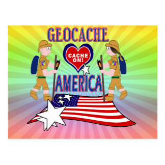 GEOCACHE AMERICA GEOCACHING POSTCARD
