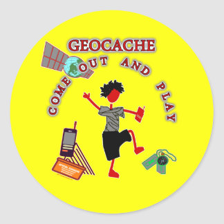 Geocache Come Out And Play Stickers