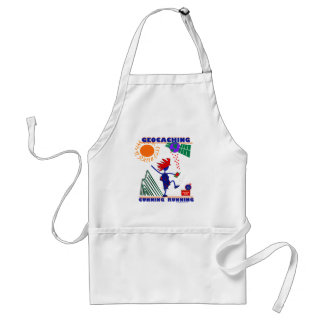 Geocache Cunning Running Adult Apron