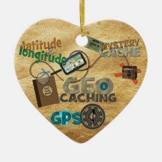 Geocache Fever - Customize Ceramic Heart Decoration