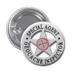 Geocache Inspector *Special Agent* w/logo Pins