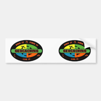 Geocache survivor bumper sticker