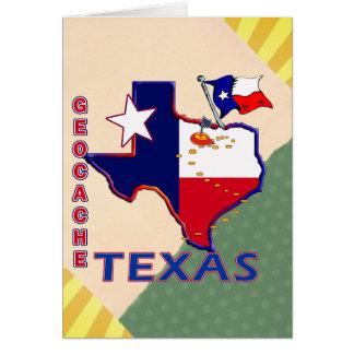 GEOCACHE TEXAS GREETING CARD