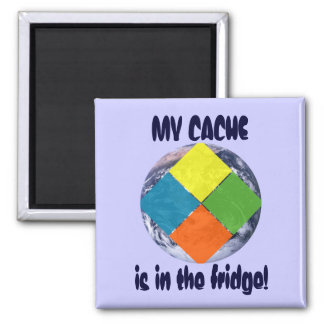 GeoCache World Square Magnet