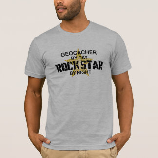 Geocacher Rock Star by Night T-Shirt