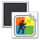 GeoCacher Square Magnet