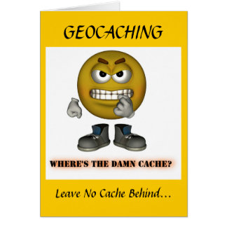 Geocaching Holiday Christmas Greeting Card