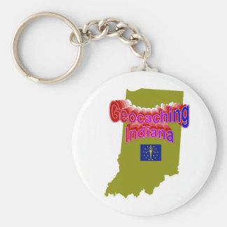 Geocaching Indiana Keychain