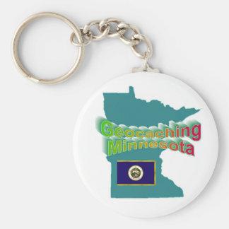 Geocaching Minnesota Keychain