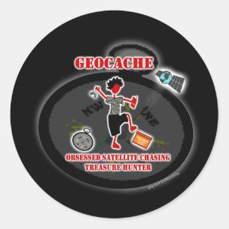 Geocaching  Obsessed Satellite Sticker