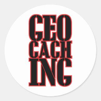 geocaching round sticker