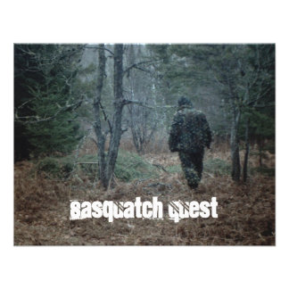 Geocaching Sasquatch Quest Fun Party Invitations