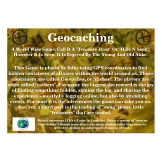 Geocaching Trail Card - By: WV Little Eagle Pack Of Chubby Business Cards