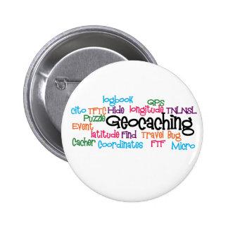 Geocaching Word Collage 6 Cm Round Badge