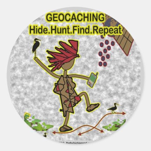 Geocachnig Hide Hunt Find Sticker