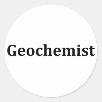 geochemist round sticker