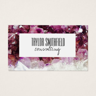 geode crystal modern trendy business card