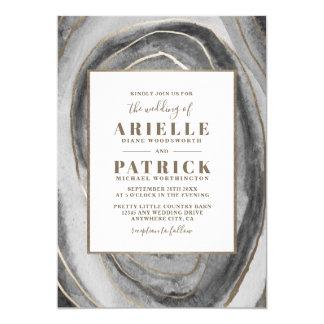 Geode Gemstone Agate Wedding Invitations