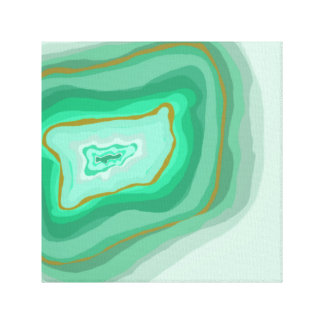 Geode Green Canvas 12x12 Canvas Prints