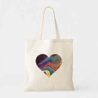 Geode Heart Tote Bag