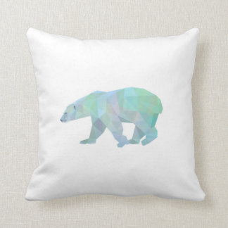 Geode Polar Bear Throw Pillow