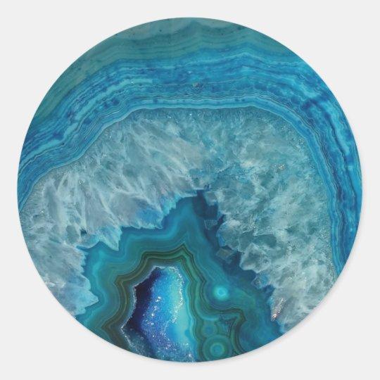 geode precious stone marble circular sticker