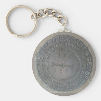 geodetic-survey-marker key ring