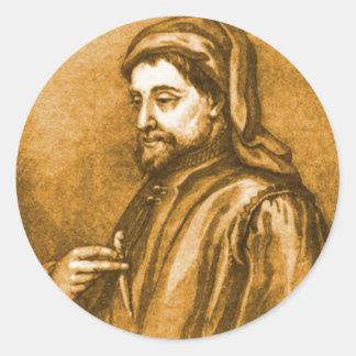 Geoffrey Chaucer Classic Round Sticker