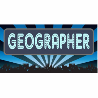 Geographer Marquee Photo Sculptures