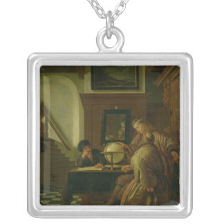 Geographers at Work Silver Plated Necklace