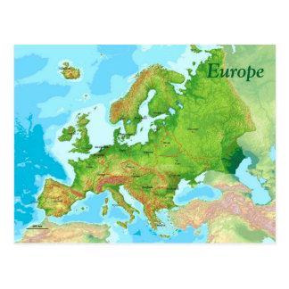 Geographic folder or Europe Postcard