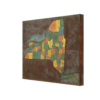 Geographical Analysis of the State of New York Canvas Print