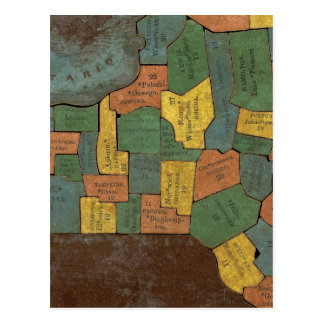 Geographical Analysis of the State of New York Postcard