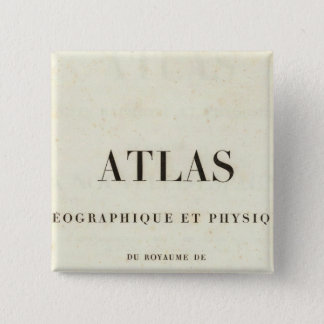 Geographical and Physical Half Title Atlas 15 Cm Square Badge