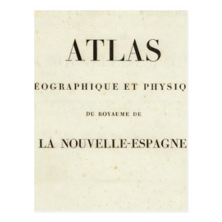 Geographical and Physical Half Title Atlas Postcard