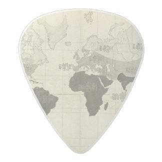 Geographical Distribution of Vegetation Acetal Guitar Pick