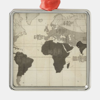 Geographical Distribution of Vegetation Christmas Ornament