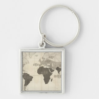 Geographical Distribution of Vegetation Key Chains