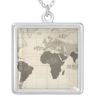 Geographical Distribution of Vegetation Silver Plated Necklace