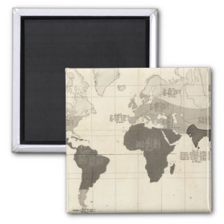 Geographical Distribution of Vegetation Square Magnet