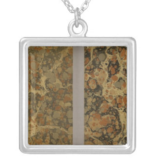 Geographical Exercises Silver Plated Necklace