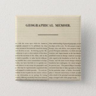 Geographical Memoir 4 15 Cm Square Badge