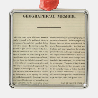 Geographical Memoir 4 Christmas Ornament