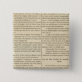 Geographical Memoir continued 15 Cm Square Badge