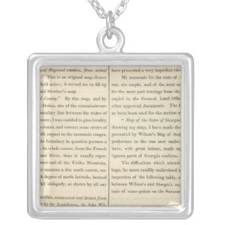 Geographical Memoir continued 2 Silver Plated Necklace